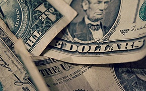 Обои Macro, Dollars, фон