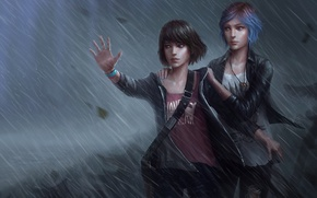 Обои Колфилд, Прайс, Chloe, Макс, Max, Дождь, Хлоя, Price, Caulfield, Гроза, Life Is Strange, Rain