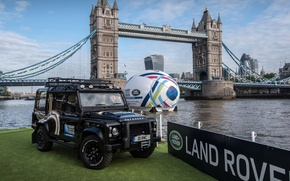 Картинка Land Rover, London, World Cup, Defender, Off road, Land Rover Rugby World Cup Defender, Rugby