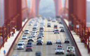 Обои kia, мосты, lexus, ford, volkswagen, машины, тачки, tilt-shift, mercedes, города