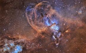 Картинка звезды, туманность, nebulae, Киль, NGC 3576