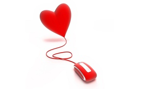 Картинка красное, сердце, мышка