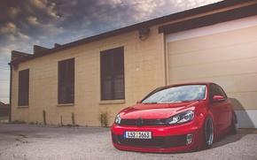Картинка Volkswagen, red, golf, gti, bbs, mk6