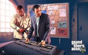 Картинка оружие, арт, майк, франклин, Grand Theft Auto V, ганшоп