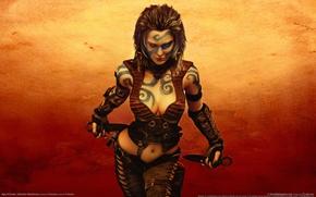 Обои девушка, кинжал, Age Of Conan: Hyborian Adventures