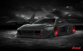 Картинка Ferrari, Cars, Tuning, Battle, Ready, by Gurnade, 512TR