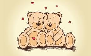 Картинка любовь, сердце, медведь, пара, день влюбленных, тедди, teddy bear, valentines day