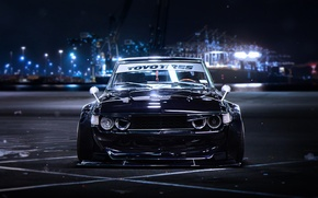 Картинка BMW, Front, Black, Tuning, Future, E30, by Khyzyl Saleem
