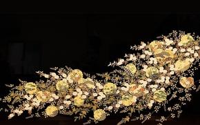 Картинка цветы, ветка, арт