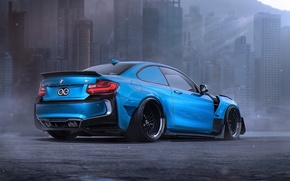 Картинка BMW, Car, Blue, Body, Tuning, Future, Sport, Kit, by Khyzyl Saleem