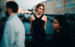Обои Елена, Иван Проскурин, город, девушка, прохожие