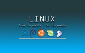 Картинка Linux, laptop, system