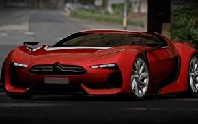 Картинка Concept, Citroen, Red, Gran Turismo, SuperCar