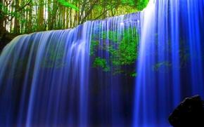 Картинка вода, природа, водопад