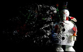 Картинка фон, праздник, снеговик