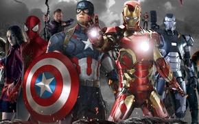 Картинка команда, Captain America, Капитан америка, Civil War, Раскол мстителей