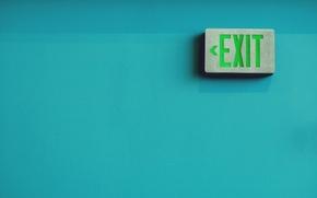 Обои фото, надпись, выход, exit