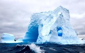Обои айсберг, красибо, море