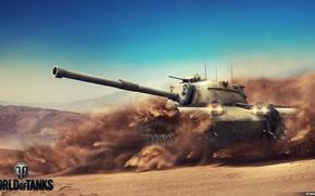 Картинка Игры, Арт, World of Tanks, Wargaming, FuriousGFX, M48A1 Patton
