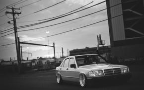 Обои dropped, 190, mercedes benz, low, stance, Mercedes