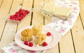 Картинка малина, нежность, еда, кексы