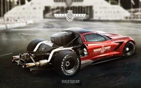 Картинка corvette, yasiddesign, hillclimb