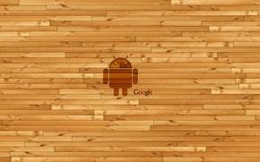 Обои гугл, андроид, android, деревянная, стена, Google, логотип