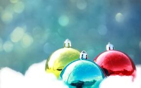 Картинка шарики, блеск, цвет, новый год, рождество