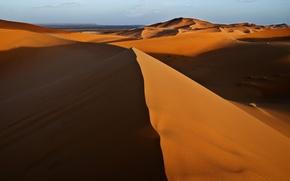 Обои пустыня, дюны, песок, природа