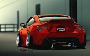 Картинка rear, Scion, Vector, red, FR-S