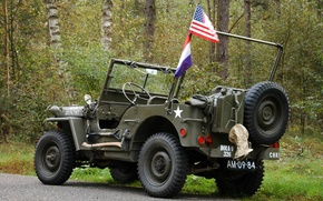 """Обои войны, автомобиль, армейский, Jeep, повышенной, проходимости, мировой, Второй, времён, """"Виллис-МВ"""", Willys MB"""