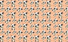 Картинка фон, собака, текстура, арт, щенок, детская
