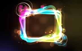 Картинка круги, Абстракция, прямоугольник