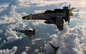 Картинка fighter, shanka, sky crawlers