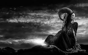 Картинка девушка, арт, Азия, Fantasy, Joachim Bergauer, Before the Sunrise