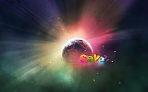Обои Планета, Спасение, свечение