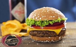 Обои фастфуд, Hot & Tasty, гамбургер