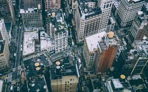 Картинка люди, Нью-Йорк, крыши, Манхэттен, автомобили, улицы, быт, городских, Соединенные Штаты