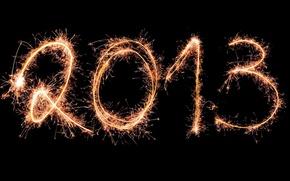 Картинка праздник, новый год, фейерверк, 2013
