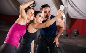 Картинка gym, selfie, Group of friends