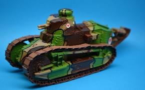 Картинка игрушка, танк, Рено, серийный, первый, моделька, лёгкий, Первой мировой войны, FT-17