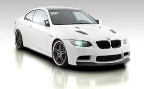 Обои белая, BMW, фон