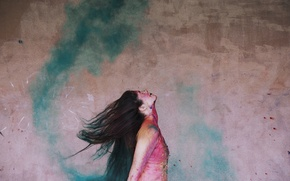 Картинка colourful, happy, colour, action, happiness, ballet, movement, moving, ballerina, powder paint