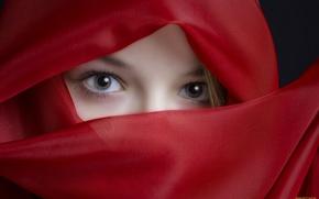 Картинка глаза, взгляд, красный