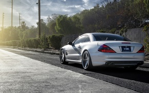 Картинка серебристый, silver, Mercedes, wheels, мерседес, SL65, бенц, метеллик