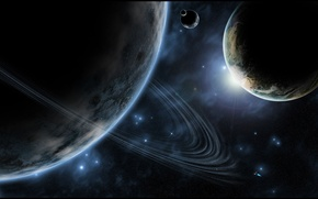 Картинка звезды, планеты, кольцо