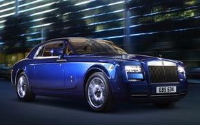 Картинка синий, Rolls-Royce, Phantom, автомобиль, роскошь, coupe, роллс-ройс