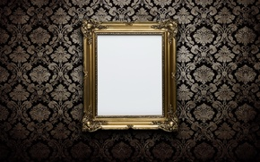 Картинка wall, white, gold, frame