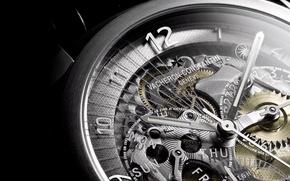 Картинка макро, часы, механизм