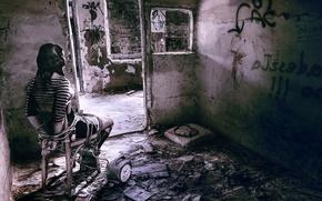 Картинка девушка, дом, разруха, FPS, Get Even